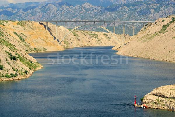 Mare ponte autostrada 13 cielo acqua Foto d'archivio © LianeM