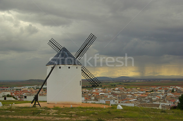 Campo de Criptana windmill 01 Stock photo © LianeM