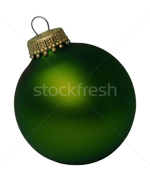 Natal bola 22 fundo inverno ouro Foto stock © LianeM