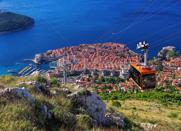 ドゥブロブニク 海 城 ヨーロッパ ストックフォト © LianeM