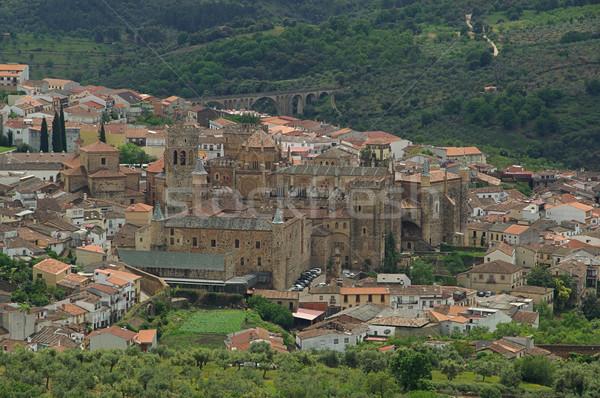 Abdij 18 muur landschap steen gothic Stockfoto © LianeM