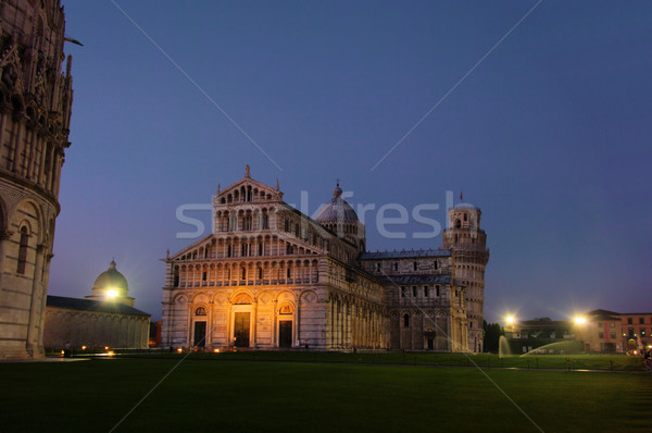 Pisa cathedral night 03 Stock photo © LianeM
