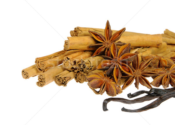 cinnamon stick and star from anis 13 Stock photo © LianeM