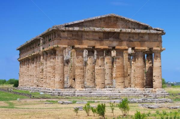 Cielo azul cultura templo griego antigua Foto stock © LianeM