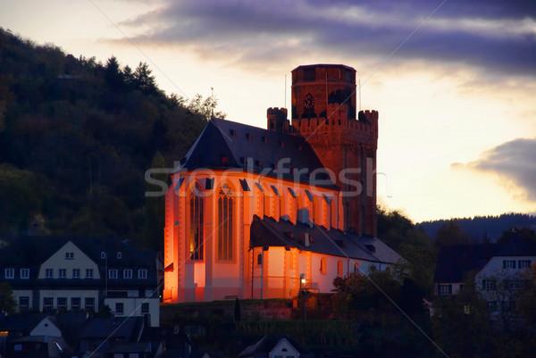 Oberwesel Martin church by night 01 Stock photo © LianeM
