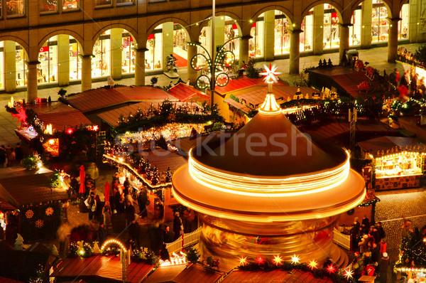 ドレスデン クリスマス 市場 家 市 光 ストックフォト © LianeM