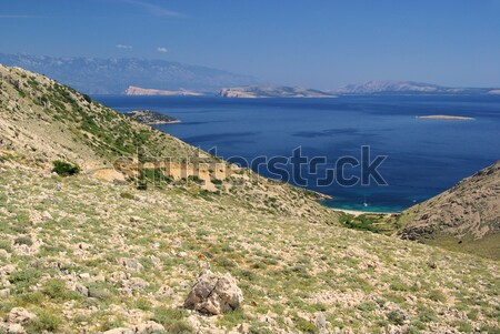 Krk and islands from sand 10 Stock photo © LianeM