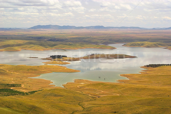 16 небе природы пейзаж зеленый Сток-фото © LianeM