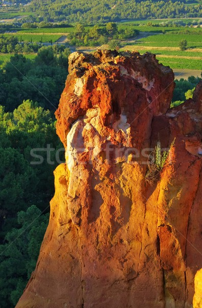 Roussillion ocre rocks 01 Stock photo © LianeM