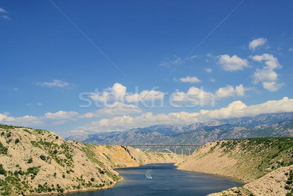 Deniz köprü otoyol 12 gökyüzü su Stok fotoğraf © LianeM