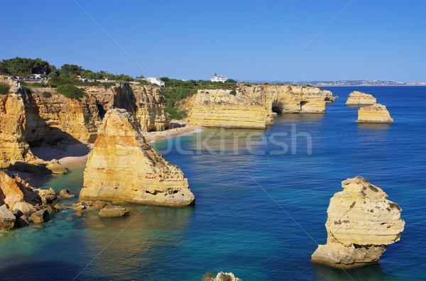 Algarve beach marinha  Stock photo © LianeM