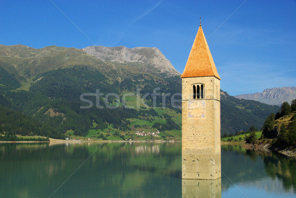 Reschensee with church 31 Stock photo © LianeM