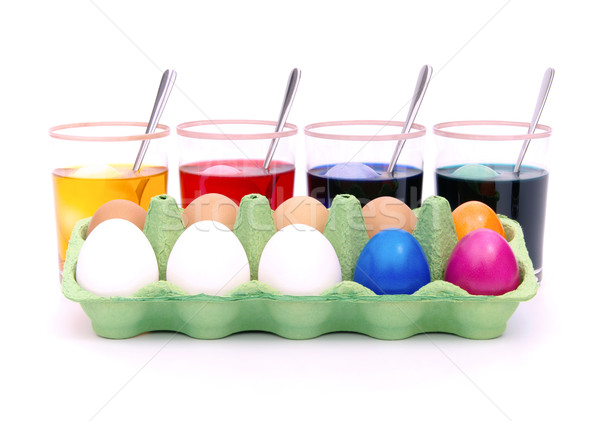 Huevos de Pascua color 12 Foto stock © LianeM