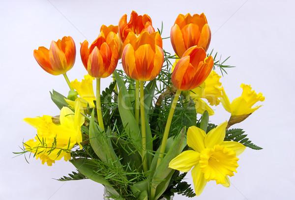 Boeket bloemen 18 Pasen liefde blad Stockfoto © LianeM