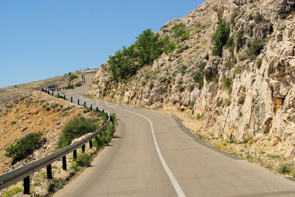 Stara Baska coast road 45 Stock photo © LianeM