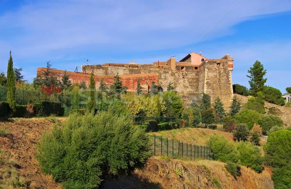 Twierdza Francja zamek Europie miasta wybrzeża Zdjęcia stock © LianeM