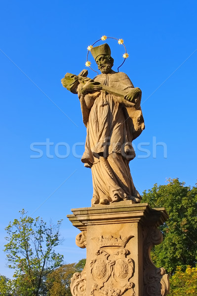 Statue from St. Johns Bridge, Klodzko (Glatz), Silesia Stock photo © LianeM