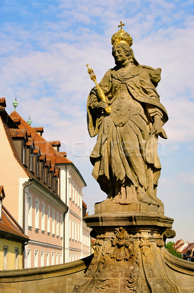 Bamberg empress Kunigunde statue 02 Stock photo © LianeM