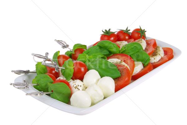 Spugen mozzarella 20 blad kaas bal Stockfoto © LianeM