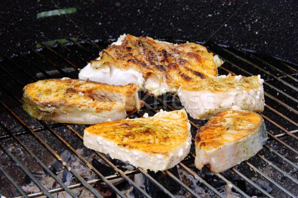 grilling steak from fish 05 Stock photo © LianeM