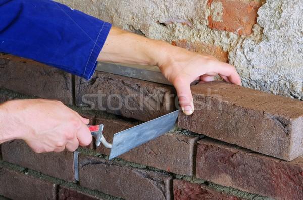 lay a brick wall  Stock photo © LianeM