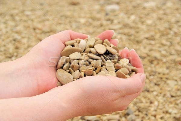 hand with stones 11 Stock photo © LianeM
