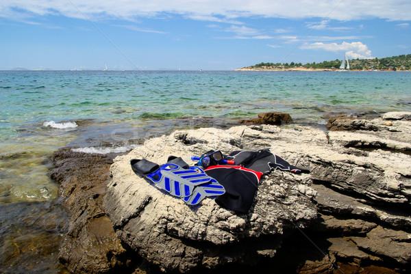 Dalış su spor deniz gözlük Stok fotoğraf © LianeM