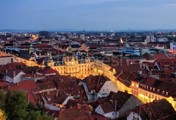 Graz townhall night  Stock photo © LianeM