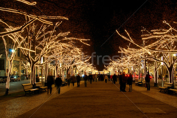 berlin unter den linden weihnachten berlin under the linden trees christmas 02 stock photo. Black Bedroom Furniture Sets. Home Design Ideas