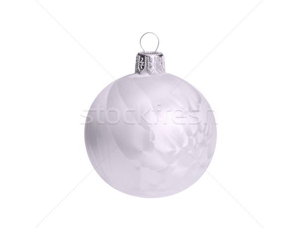 Natale palla isolato 26 vetro bianco Foto d'archivio © LianeM