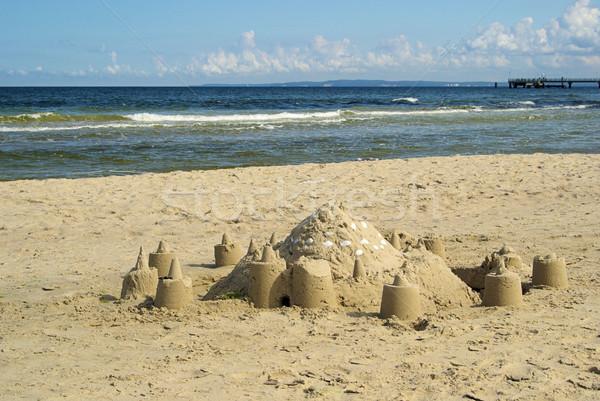 sand castle 01 Stock photo © LianeM