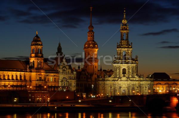 Dresden old town night 03 Stock photo © LianeM