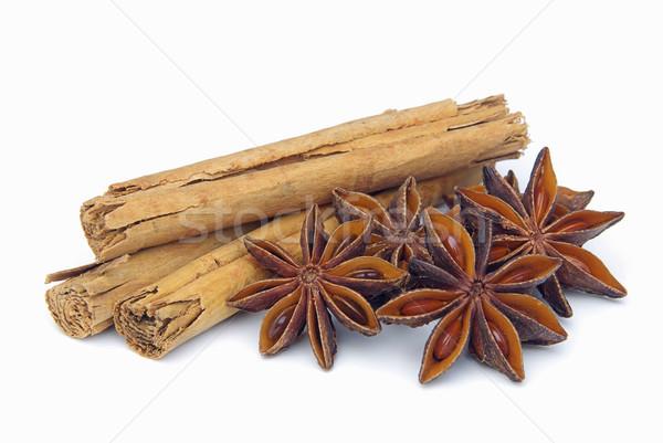 Canela em pau estrela comida fundo macro vara Foto stock © LianeM