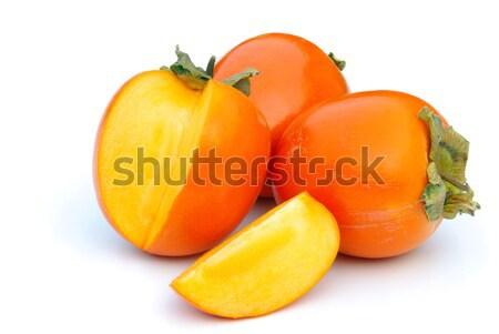 Japans persimmon 15 vruchten achtergrond Rood Stockfoto © LianeM