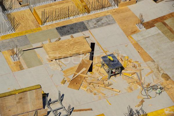 Negocios casa construcción pared trabajo Foto stock © LianeM