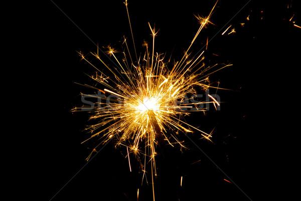 бенгальский огонь вечеринка фон ночь пламени праздник Сток-фото © LianeM