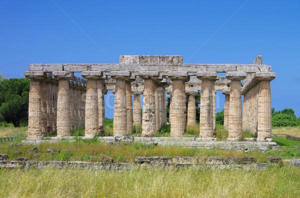 Gökyüzü mavi kültür tapınak Yunan eski Stok fotoğraf © LianeM