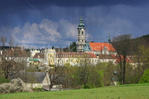 Opactwo budynku kościoła Chmura architektury Europie Zdjęcia stock © LianeM