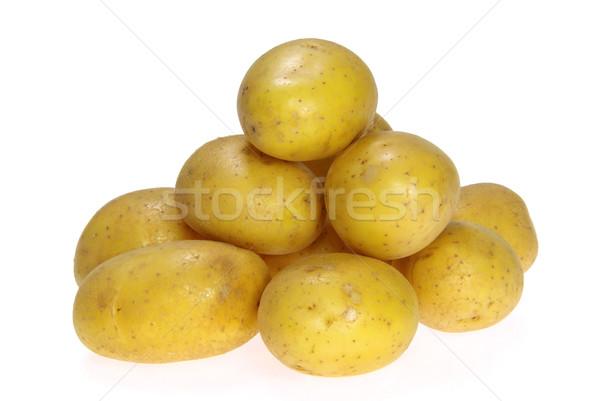 Krumpli 13 étel háttér fehér Stock fotó © LianeM