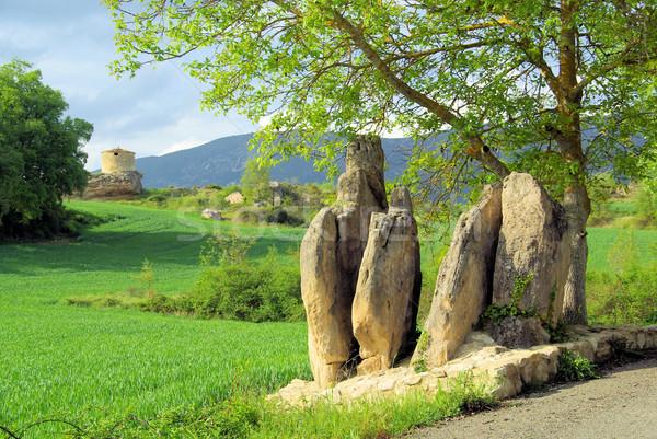 Verde rock piedra Europa historia Celtic Foto stock © LianeM