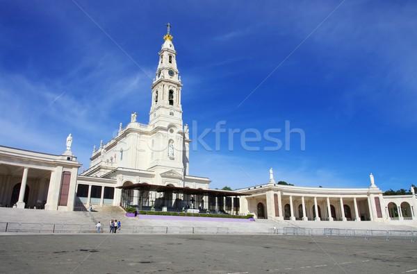 крест синий белый башни религиозных колонки Сток-фото © LianeM