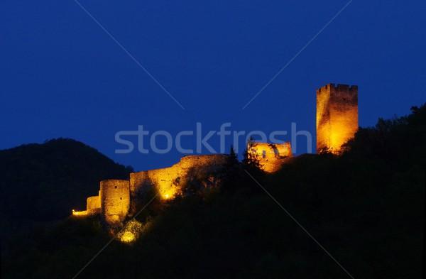Spitz castle ruin Hinterhaus night  Stock photo © LianeM