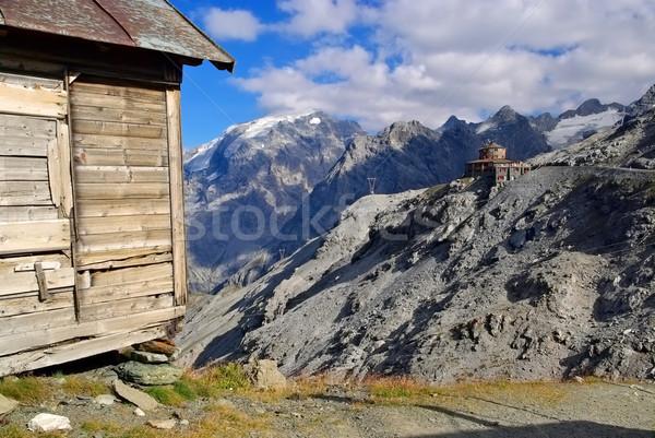 Stelvio Pass, the Tibet-Hut Stock photo © LianeM
