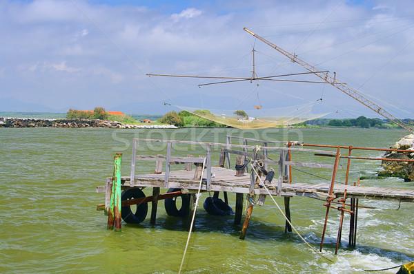 Fischersteg - fishing stage 01 Stock photo © LianeM