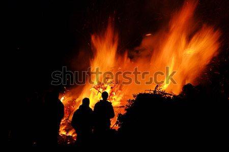Noche hoguera Pascua textura fiesta luz Foto stock © LianeM