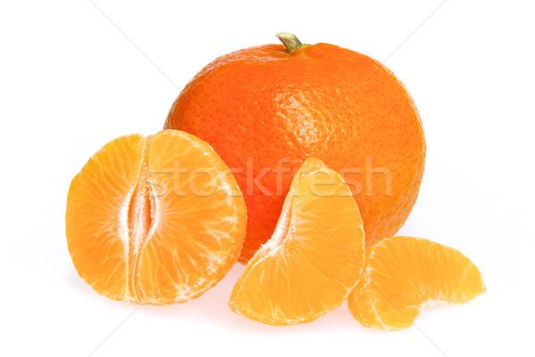 Mandarin izolált 14 étel narancs citromsárga Stock fotó © LianeM
