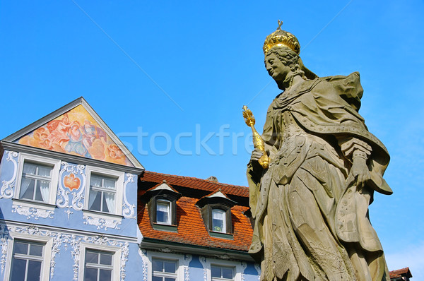 Bamberg empress Kunigunde statue 01 Stock photo © LianeM