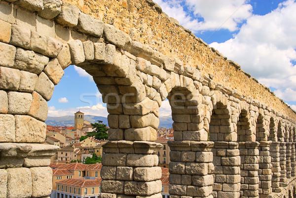 Segovia Aqueduct 08 Stock photo © LianeM