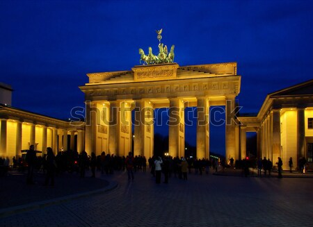 Berlin Brandenburg Gate night 10 Stock photo © LianeM