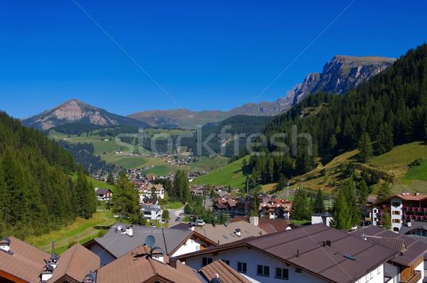 Val Gardena Wolkenstein in Alps Stock photo © LianeM
